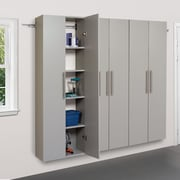 "Prepac™ HangUps 72"" Laminate 3 Piece Storage Cabinet Set C, Light Gray"