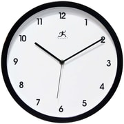 Infinity Instruments 14480BK-3023 Cirrus Resin Analog Wall Clock, Black
