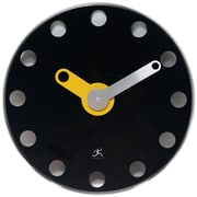 Infinity Instruments 14 Wall Clock, Accent Black