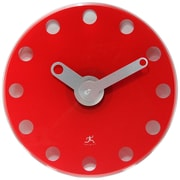 Infinity Instruments 14 Wall Clock, Accent Red