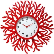 Infinity Instruments 14736RD-3756 The Reef Wood Analog Wall Clock, Red