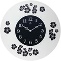 Infinity Instruments 22in. Blossom Analog Wall Clock, White/Black