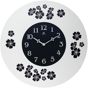 Infinity Instruments 22 Lily Analog Wall Clock, Black