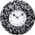 Infinity Instruments 12in. Bel Air Analog Wall Clock, Black