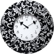 Infinity Instruments 22in. Ivy Analog Wall Clock, Black/White