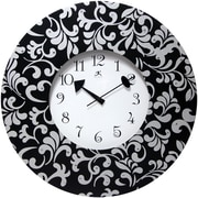 Infinity Instruments 22 Ivy Analog Wall Clock, Black/White