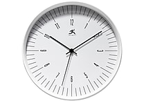Infinity Instruments 12' Bel Air Analog Wall Clock, White