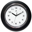 """Infinity Instruments 12 1/2"""" Deluxe Analog Wall Clock, Black"""