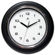 Infinity Instruments 12 1/2 Deluxe Analog Wall Clock, Black