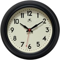 Infinity Instruments 8 1/2in. Cuccina Analog Wall Clock, Black