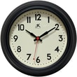 Infinity Instruments 8 12in. Cuccina Analog Wall Clock, Black