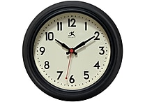 Infinity Instruments 8 12' Cuccina Analog Wall Clock, Black