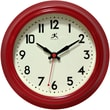 Infinity Instruments 8 1/2in. Cuccina Analog Wall Clock, Red