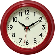 "Infinity Instruments 8 1/2"" Cuccina Analog Wall Clock, Red"