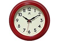 Infinity Instruments 8 1/2' Cuccina Analog Wall Clock, Red