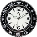 Infinity Instruments 13 1/2in. Bazel Wall Clock, Black
