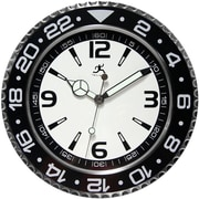 "Infinity Instruments 13 1/2"" Bazel Wall Clock, Black"