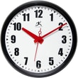 Infinity Instruments 15in. Impact Commercial Analog Wall Clock, Black