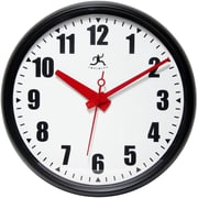 Infinity Instruments 14724BK-3733 Impact Plastic Analog Wall Clock, Black