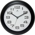 Infinity Instruments 12in. Clear Analog Wall Clock, Black