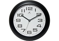 Infinity Instruments 12' Clear Analog Wall Clock, Black