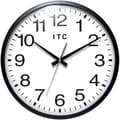 Infinity Instruments 13in. Total Analog Wall Clock, Black