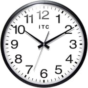 Infinity Instruments 13 Total Analog Wall Clock, Black