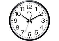 Infinity Instruments 13' Total Analog Wall Clock, Black