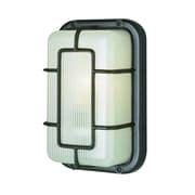 TransGlobe Lighting 1-Light Outdoor Bulkhead Light; White
