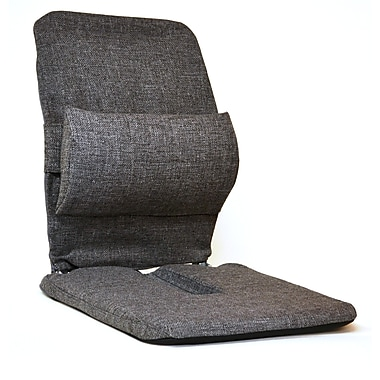 Sacro-Ease Bucket Seat Back Cushion; Charcoal