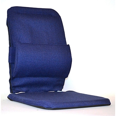 Sacro-Ease Bucket Seat Back Cushion w/ Adjustable Lumbar; Blue