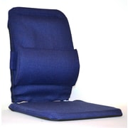 Sacro-Ease Bucket Seat Back Cushion with Adjustable Lumbar; Blue