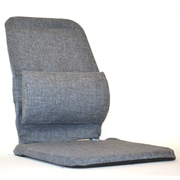 Sacro-Ease Bucket Seat Back Cushion with Adjustable Lumbar; Grey