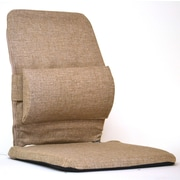 Sacro-Ease Bucket Seat Back Cushion with Adjustable Lumbar; Light Brown