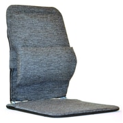 Sacro-Ease Seat Back Cushion w/ Adjustable Lumbar Support; Charcoal