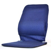 Sacro-Ease Seat Back Cushion with Adjustable Lumbar Support; Blue