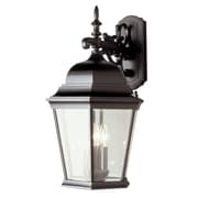 TransGlobe Lighting Outdoor 3 Light Wall Lantern; Swedish Iron