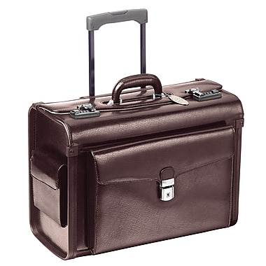 Mancini Deluxe Leather Laptop Catalog Case; Burgundy