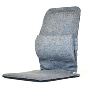 Sacro-Ease Seat Back Cushion with Adjustable Lumbar Support; Grey