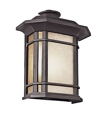 TransGlobe Lighting Corner Windows 1 Light Outdoor Flush Mount; Black WYF078275711520