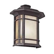 TransGlobe Lighting Corner Windows 1 Light Outdoor Pocket Lantern; Black