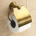 Gedy by Nameeks Romance Wall Mounted Toilet Paper Holder with Cover; Bronze