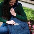 Lug Puddle Jumper Overnight / Gym Tote Bag; Navy Blue - Closeout