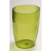 Carnation Home Fashions Acrylic Ribbed Waste Basket; Palm Green