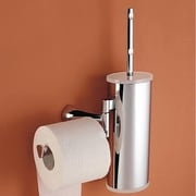 Toscanaluce by Nameeks Wall Mounted Toilet Brush Holder w/ Optional Toilet Paper Roll Holder; Orange