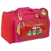 Mercury Luggage Going to Grandma's Children's Duffel Bag; Red/pink trim