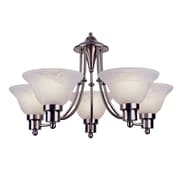TransGlobe Lighting Contemporary 5 Light Chandelier; Brushed Nickel