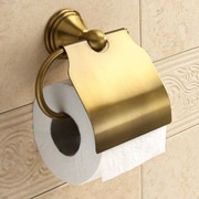 Gedy by Nameeks Romance Wall Mounted Toilet Paper Holder; Bronze