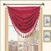 Kashi Home Holly Faux Silk Grommet Top Curtain Valance; Cinnamon
