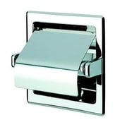 Geesa by Nameeks Standard Hotel Recessed Single Toilet Paper Holder with Cover in Stainless Steel
